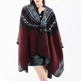 Women 130*150CM Vintage Ethnic Style Artificial Cashmere Scarf Winter Warm Long Shawl