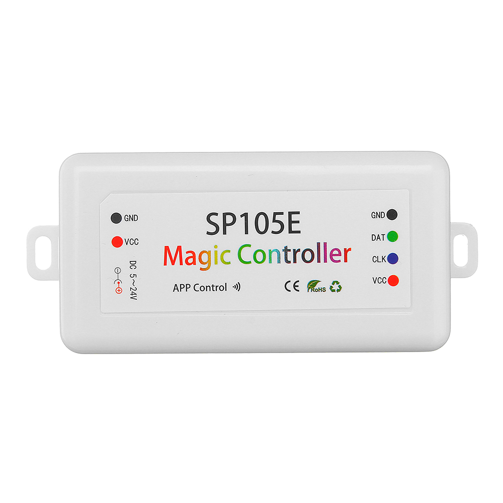 SP105E DC5-24V Bluetooth Phone APP LED Controller Module For WS2811 WS2812B APA102 Strip Light