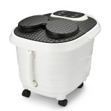 Foot Spa Electric Digital Massager Therapy Vibration Motorized Rolling Heater Relax Bubble Pedicure