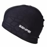 Oversized Nylon Spandex Waterproof Swimming Cap Men Women Letter Print Earmuffs Beanie Hat