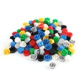 140pcs Round Mixed Color Tactile Button Cap Kit For 12x12x7.3mm Tact Switches