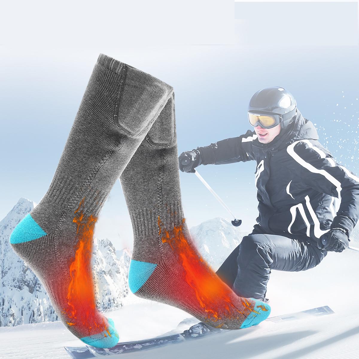 Outdoor Sports Bike Skiing Socks Rechargeable Battery