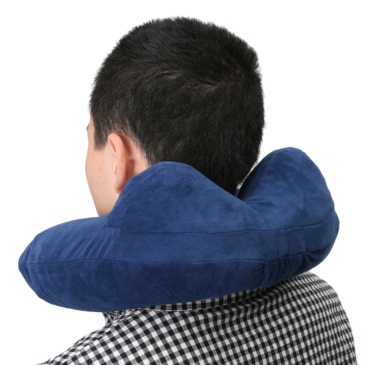 CAMTOA U Shaped Travel Pillow Car Air Flight Inflatable Pillows Neck Support Headrest Cushion Soft Nursing Cushion