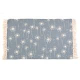 Cotton Fiber Hand-woven Carpet Bedroom Carpet Floor Mat Japanese-style Fabric Machine Washable