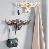 Love Vintage Deer Antler Wall Hanger Decoration Coat Hook And Hat Rack 4 Color Holder