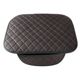 Leather Car Front Seat Cushion Covers Breathable Chair Protector Seat Pad Mat with Storage Bag