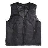 Electric Black Vest Heated Waistcoat Cloth Thermal Warm Pad Winter Body Warmer