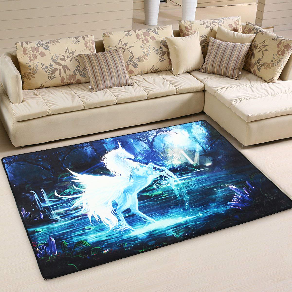 Fashion Non-Slip Shaggy Fluffy Area Rug Floor Mat Living Room Carpet Home Decoration