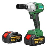 68V 8000mAh 520N.m Electric Brushless Cordless Impact Wrench W/ 2 Battery