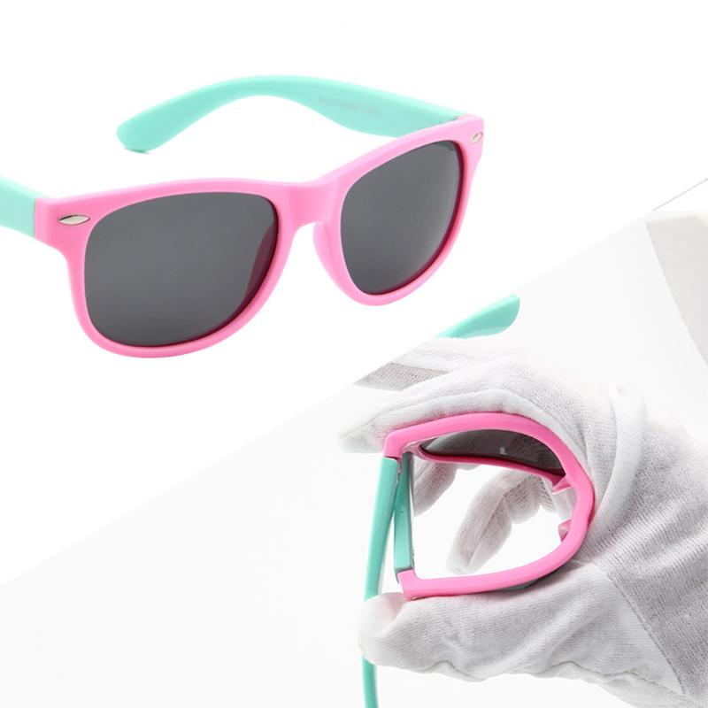 Unisex Kids Chic Polarized Children Baby Soft Sunglasses UV400 Popular Eyewear