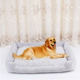 4 Colors Crystal Velvet Pet Sofa Bed Dog Cat Sleeping Bed Kennel for Medium Large Dogs