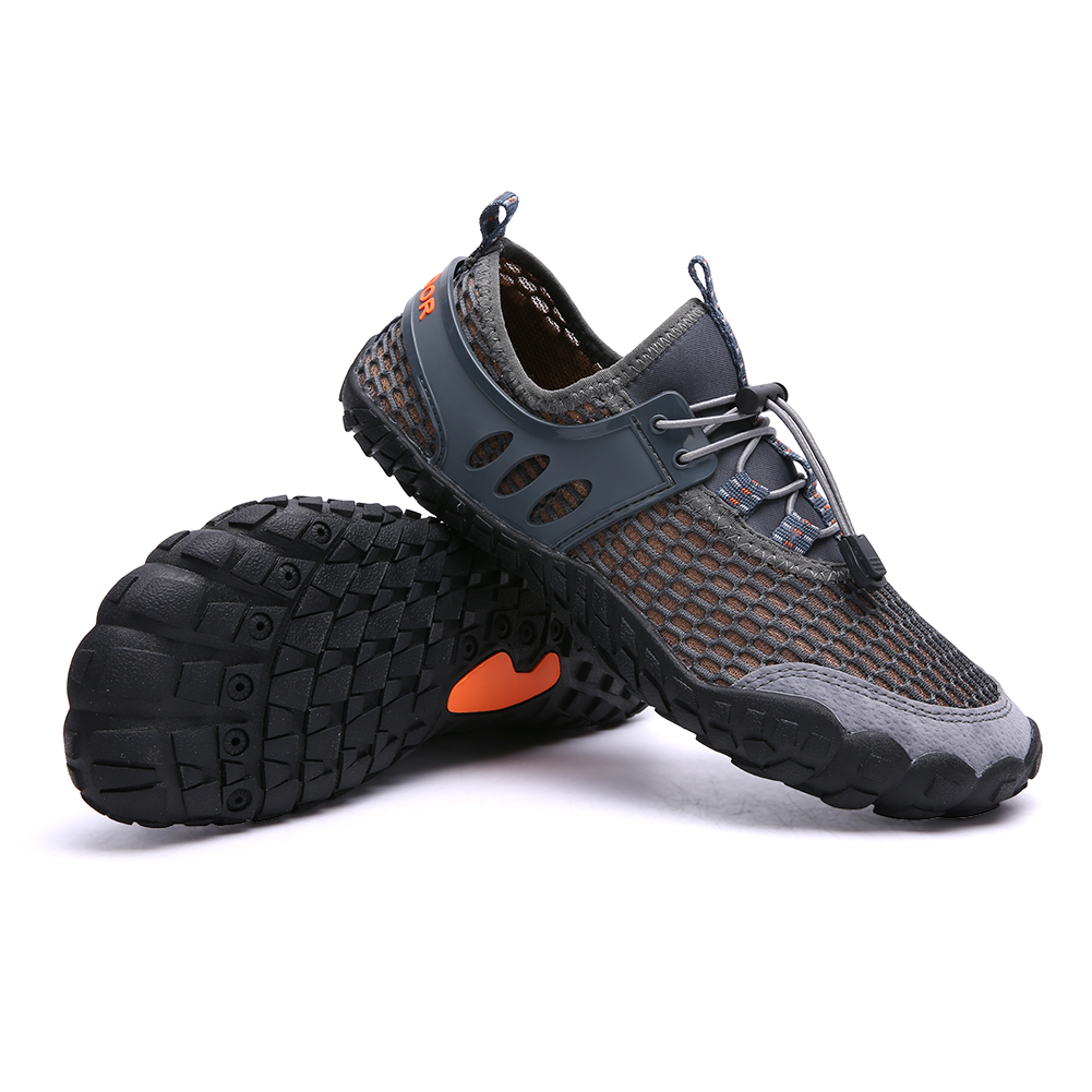 Men Hollow Out Slip Resistant Breathable Outdoor Hiking Sneakers