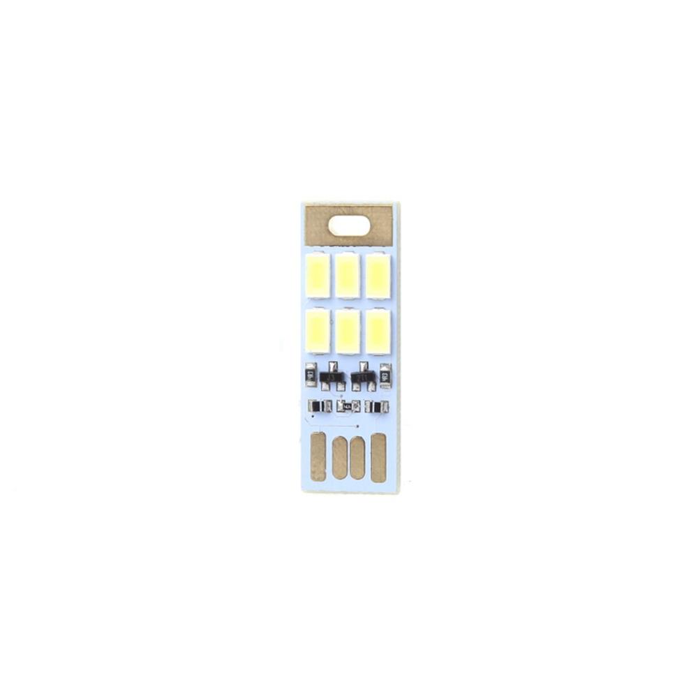 Portable USB Power 1W Light Sensitive Control 6 LED Rigid Strip Night Light Card Lamp DC5V