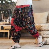 INCERUN Men Ethnic Printing Loose Casual Harem Trousers Cotton Big Size Pants