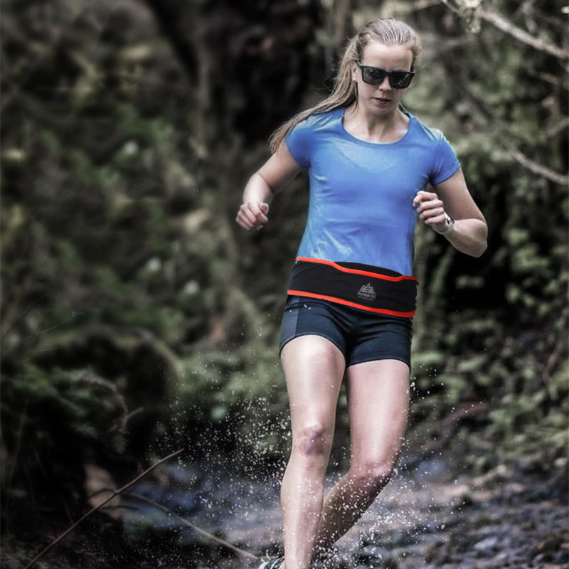 AONIJIE Nylon Running Waist Bag Outdoor Fitness Sport Phone Bags Water Bottle Bag Belt Bag