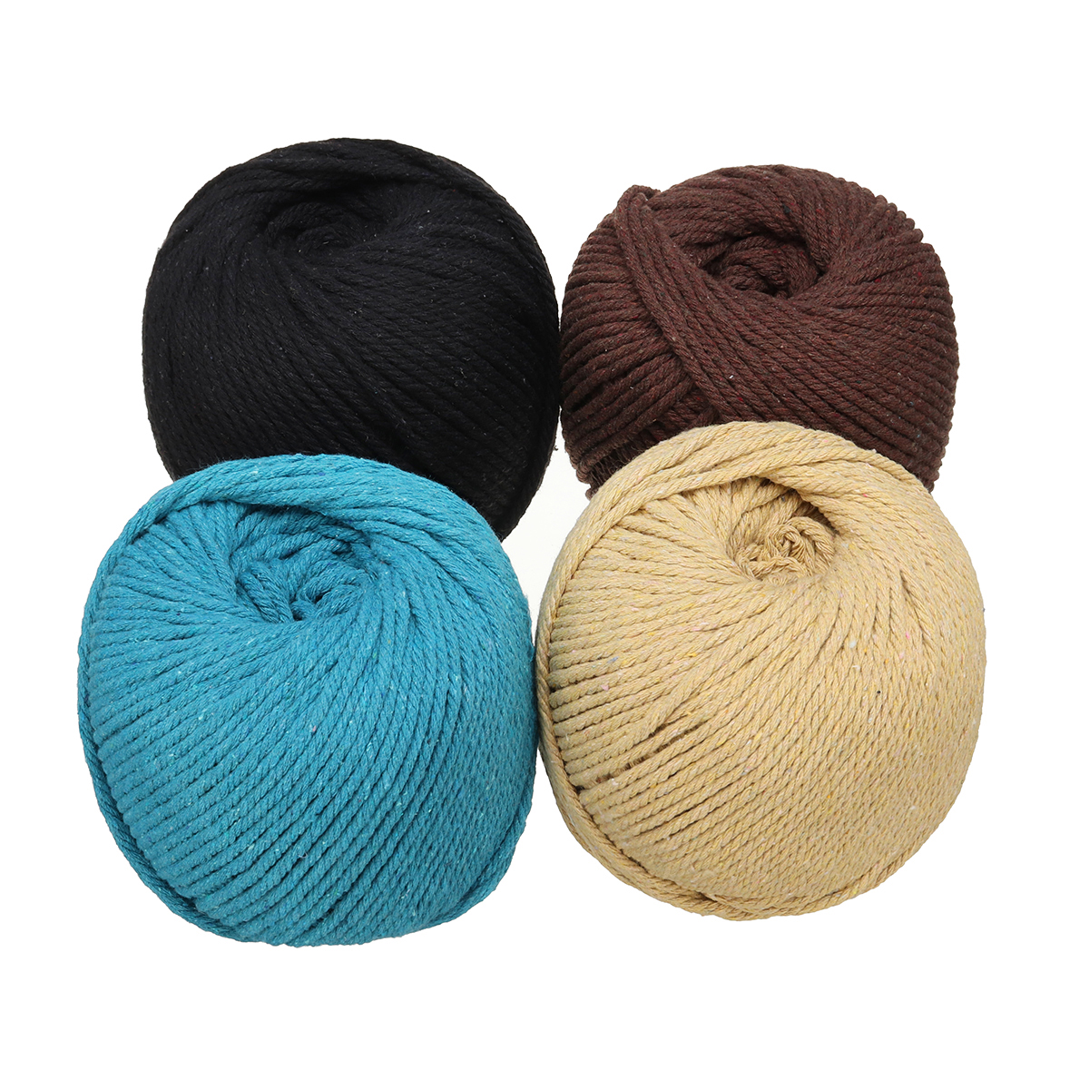 4 Colors 4mm 110m Natural Cotton Twisted Cord Rope Macrame Linen Jute DIY  Braided Wire Hand Craft