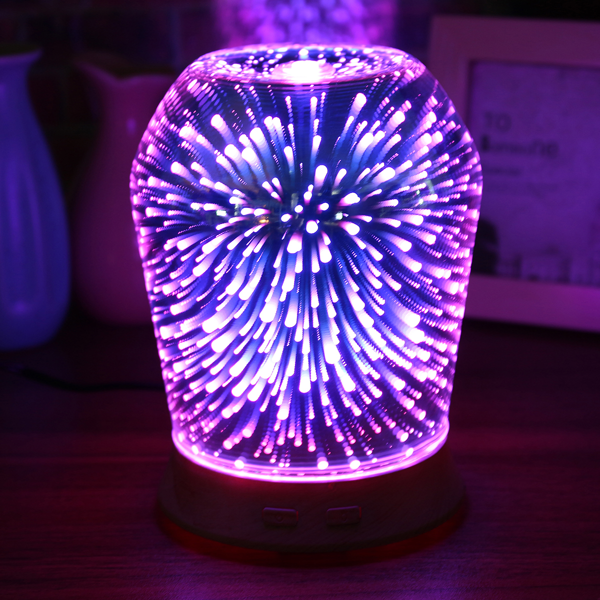 3D LED Ultrasonic Diffuser Humidifier Aromatherapy Essential Oil Diffuser Mist Humidifier