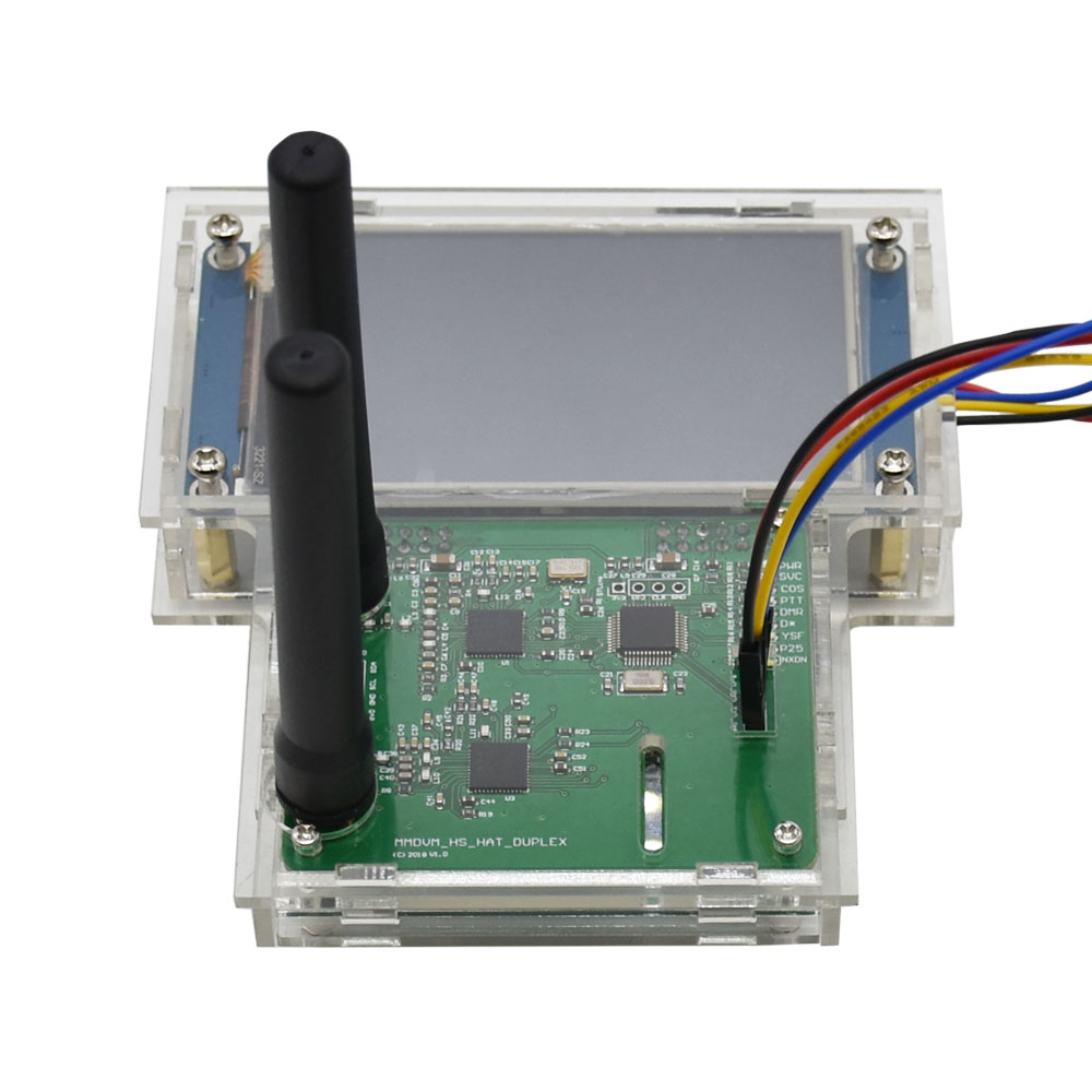 Duplex MMDVM Hotspot+Raspberry Pi-Zero+2pcs Antenna+3 2 LCD Screen  Display+Exclouse Case