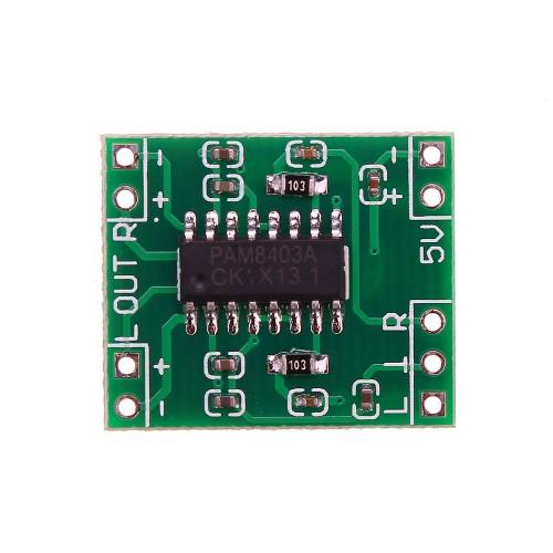 Mini Digital Power Amplifier Board 2x3W Class D Audio Module USB DC 5V PAM8403