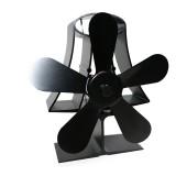 5 Blade Heat Self-Powered Wood Stove Fan Burner Fireplace Silent Ecofan
