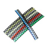 300Pcs 5 Colors 60 Each 1210 LED Diode Assortment SMD LED Diode Kit Green/RED/White/Blue/Yellow
