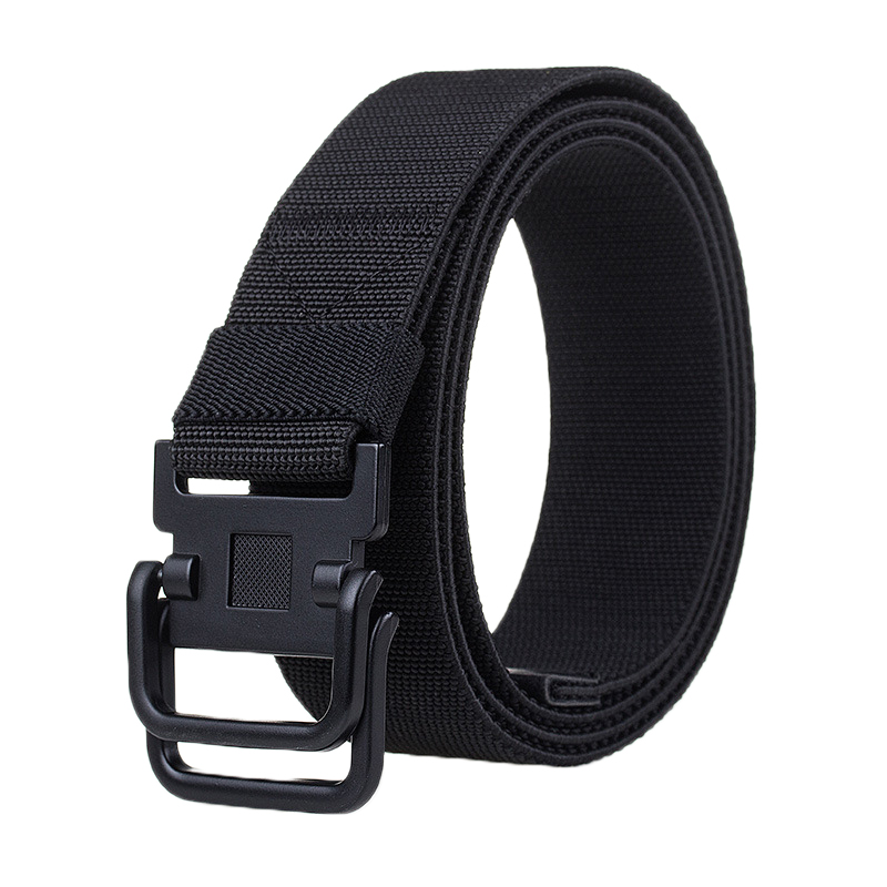 125cm AWMN S10 3.8cm Nylon Double Ring Buckle Men Women Heavy Duty Rigger Military Tactical Belt
