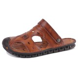 Men Adjustable Hollow Out Soft Sole Casual Beach Sandals
