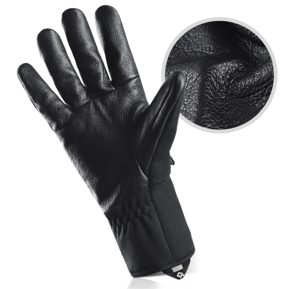 Motorcycle Waterproof Riding Guantes Velvet Touch Screen Winter Warm Gloves With Zipper