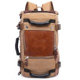 Outdoor Backpack Canvas Hiking Backpack Large Capacity Tactical Travel Trekking Rucksack