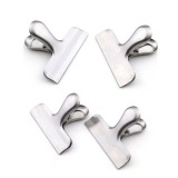 4PCS Big Durable Metal Chip Bag Clips Stainless Steel Food Sealing Clips Kitchen Tool Set 7.6CM