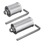 MACHIFIT 30/50mm DIY Double Bearing Driving Wheel Belt Sander Conveyor Guide Wheel With 8mm Shaft Rod / Wrench