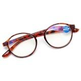 Retro Anti Blue Ray Reading Glasses Round Frame Computer Presbyopic Eyeglasses