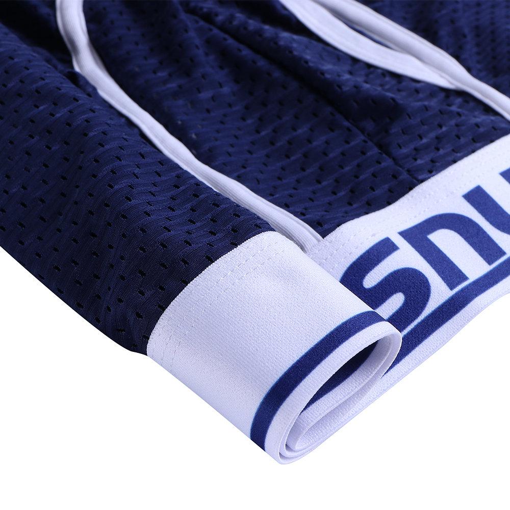 Men U Convex Pouch Ice Silk Mesh Breathable Low Waist Boxer Underwear