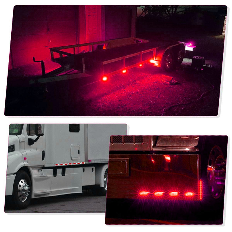 LED Side Marker Indicator Lights Clearance Lamp DC 24V for Truck Trailer Bus