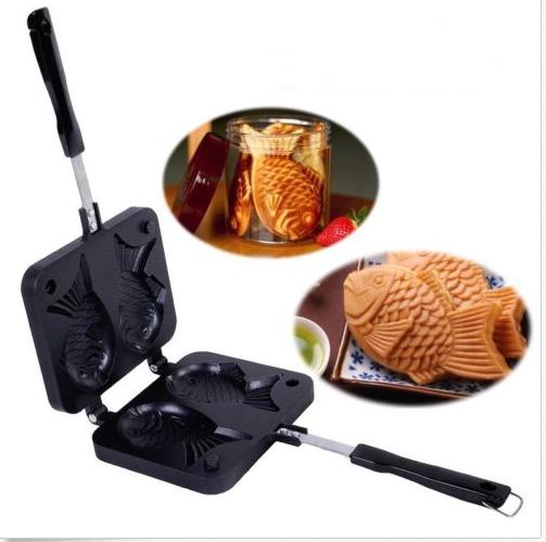Non-stick Taiyaki Fish Shaped Waffle Frying Pan Maker Home Food Cooking Baking Mold Waffle Maker