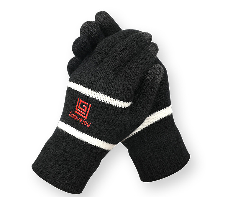 Unisex Winter Touch Screen Outdoor Riding Knit Warm Thickened Gloves