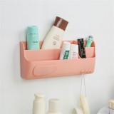 Plastic Wall-mounted Storage Baskets Candy Colors Cosmetic Storage Box Sundry Rack Organizer