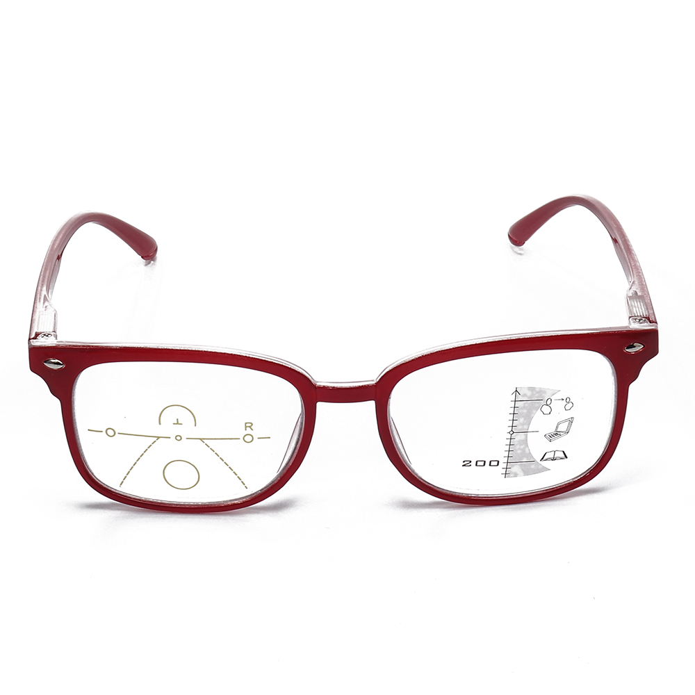TR90 Retro Progressive Multi-Focus Reading Glasses Anti-Blue Light Dual-Use Multi-Function Glasses