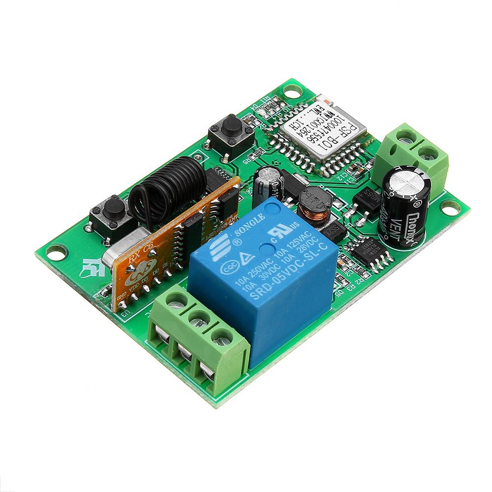 433Mhz LC-EWL-1R-D80RF WiFi Remote Relay Module Mobile APP Remote Control