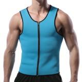 Men Neoprene Body Shaper Vest Muscle Workout Sport Zipper Tank Tops