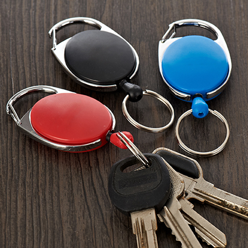 IPRee Outdoor EDC Metal Keychain Ring Multifunction Retractable Anti-Lost Key Ring Buckle Pull Clip