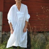 INCERUN Mens Vintage V Neck Splits Tunic Style Shirts Cotton Loose Draped Mid Long Tops