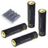 4Pcs Soshine 3.7v 800mah AA LiFePO4 Li-ion Battery Protected High Discharge Rechargeable Battery + Box