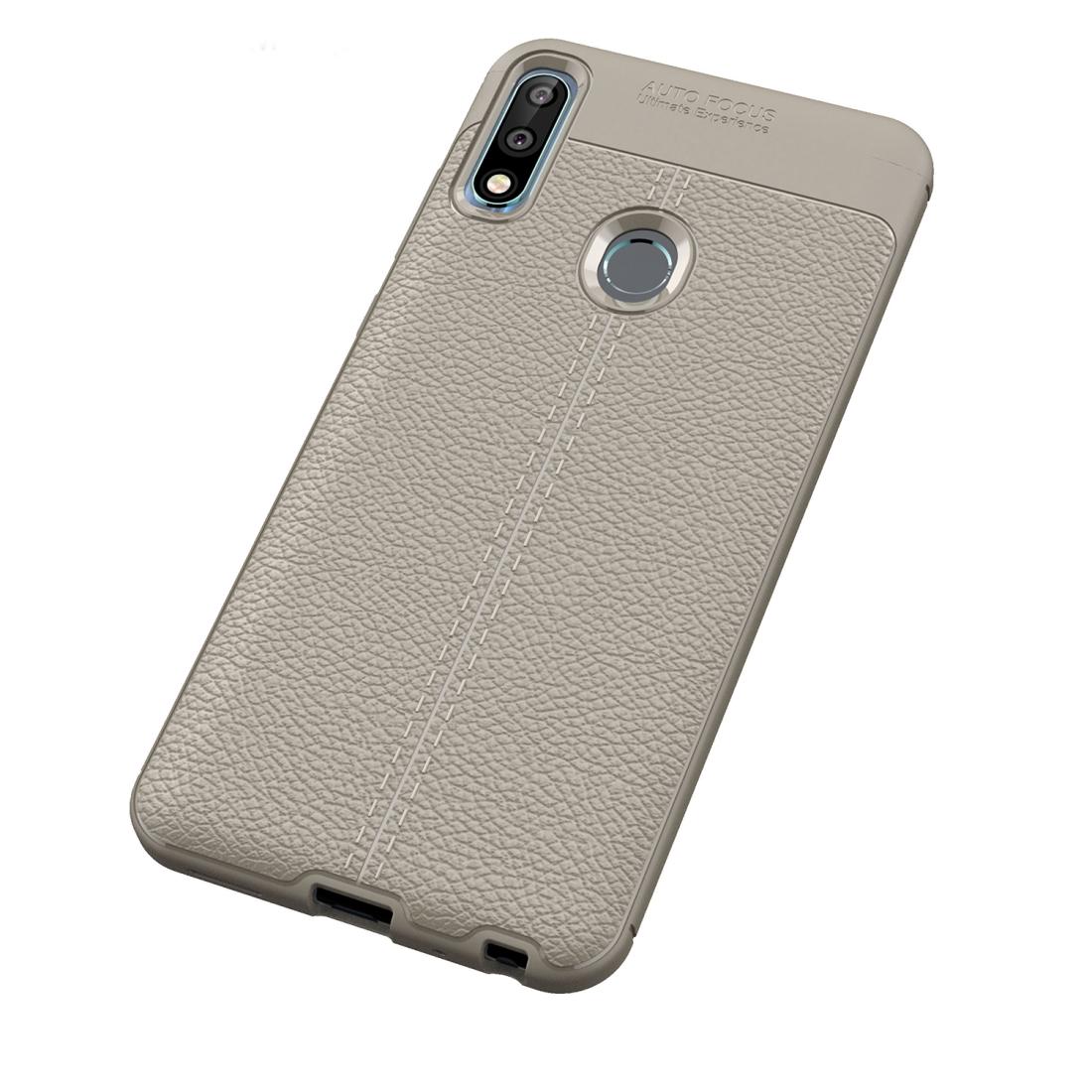 huge discount 47859 cc445 Litchi Texture TPU Shockproof Case for ASUS Zenfone Max Pro (M2) (Grey)