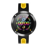 DM58 Plus 1.22 inch IPS Color Screen Smartwatch IP68 Waterproof, Support Call Reminder /Heart Rate Monitoring /Blood Pressure Monitoring /Sedentary Reminder /Sleep Monitoring (Yellow)