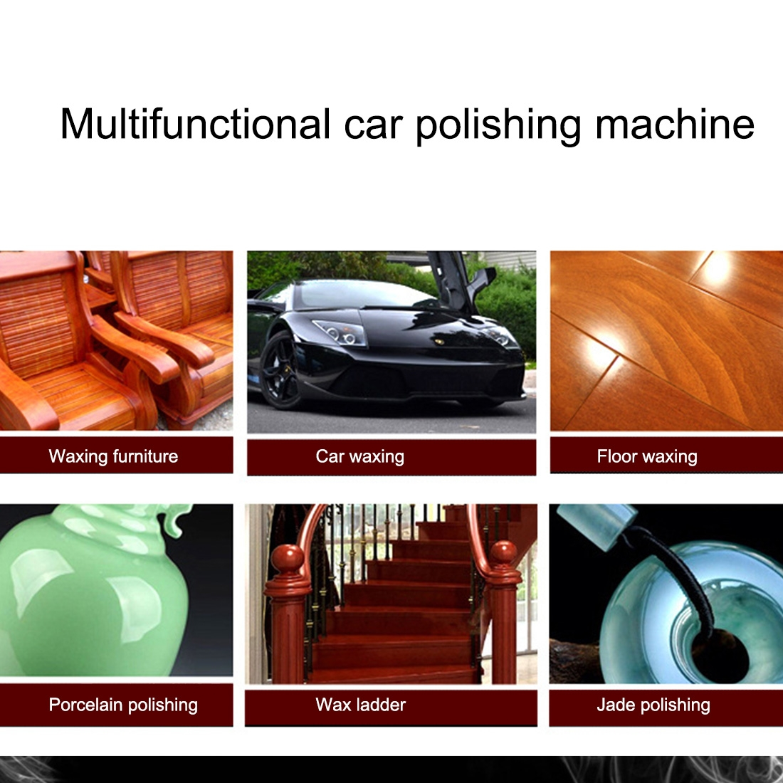 Portable Polishing Machine Multifunctional Car Polishing Machine Dewaxing Wool Disc Grinding Disc Diameter 180MM