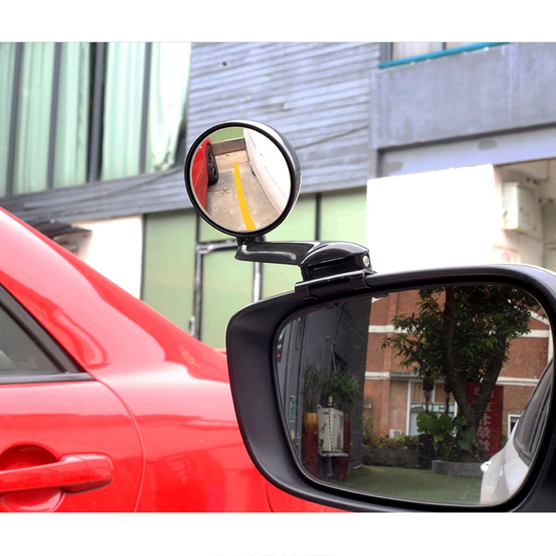 3R-094 Auxiliary Rear View Mirror Car Adjustable Blind Spot Mirror Wide Angle Auxiliary Rear View Side Mirror for Left Mirror