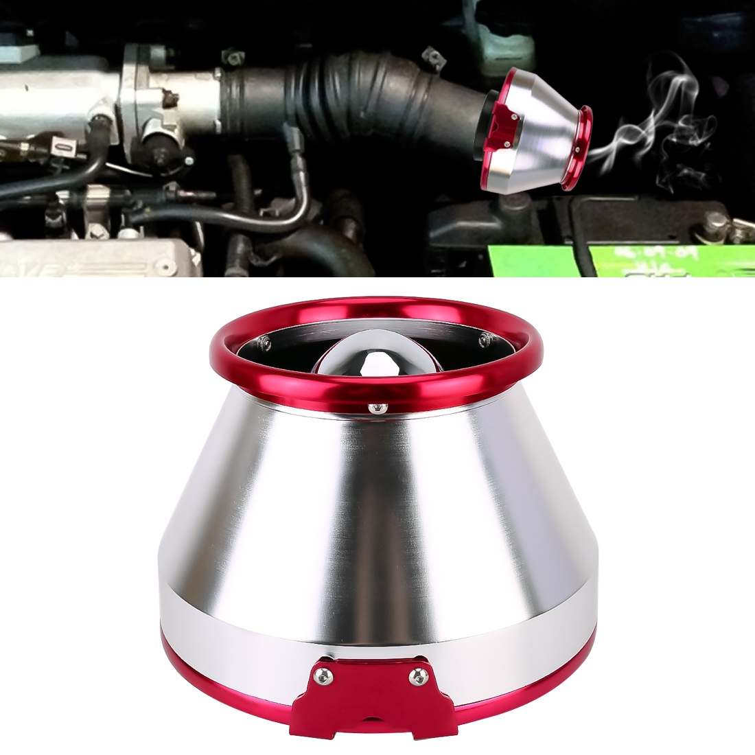 APC Mushroom Shape Super Power Car Cleaner Air Filter High Performance Air Induction Air Flow Filter, Inner Caliber: 7.6cm
