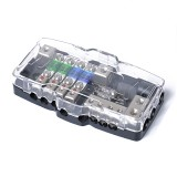 Car Audio Stereo Distribution Block Ground Mini ANL Fuse Block 4 Way Fuse Block 30A 60A 80Amp with LED