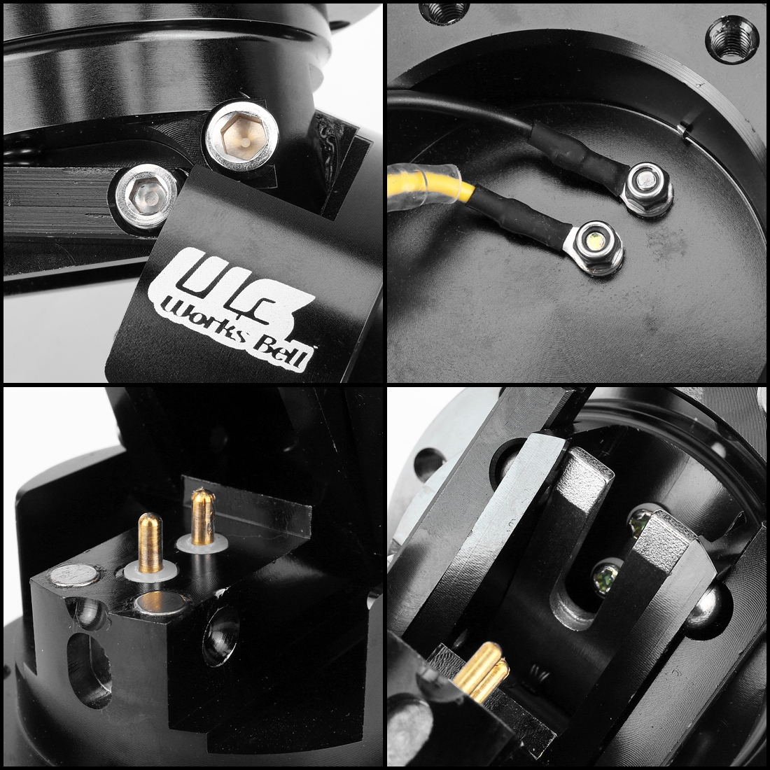Car Tilt Racing Steering Wheel Quick Release Hub Kit Adapter Body Removable Snap Off Boss Kit (Black)